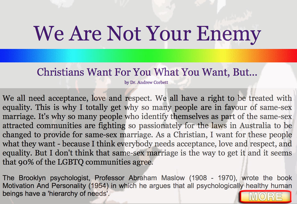 We Are Not Your Enemies
